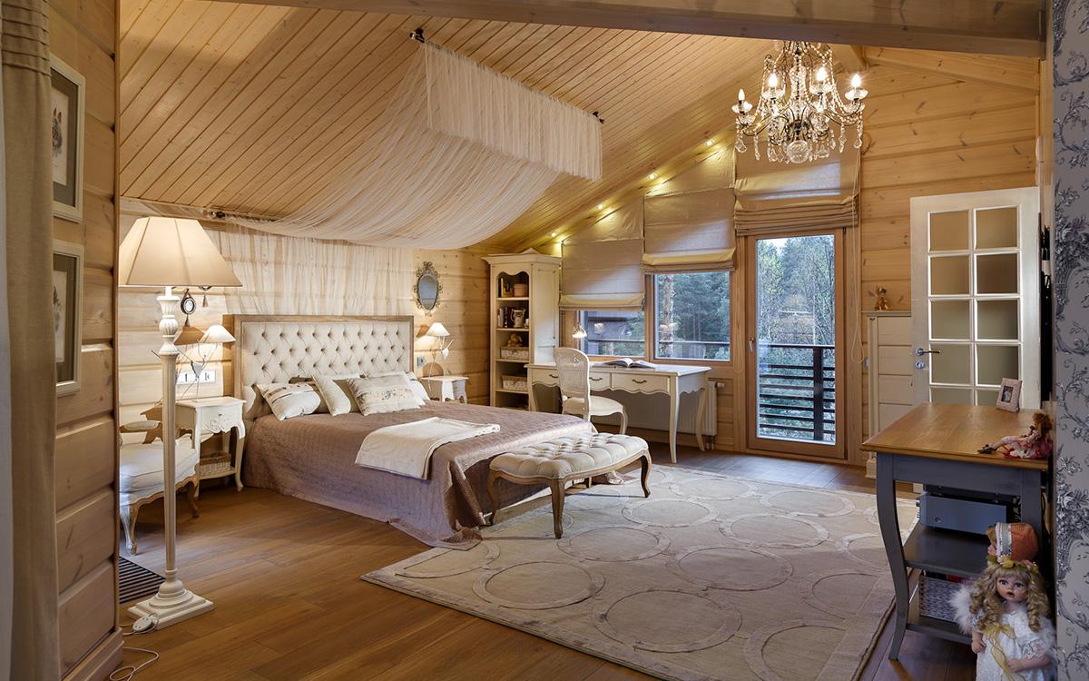 Фото дизайна комнат деревянных из бруса