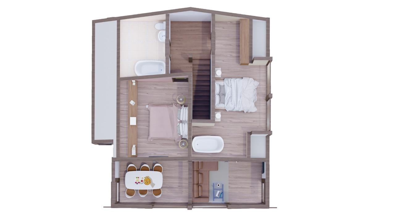 Строительство дома из клееного бруса. Брюгге