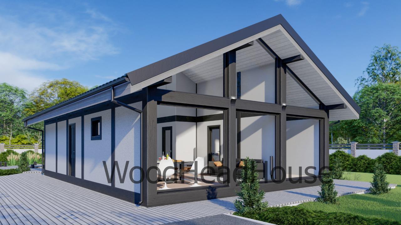 Строительство дома из клееного бруса. Инсбурк