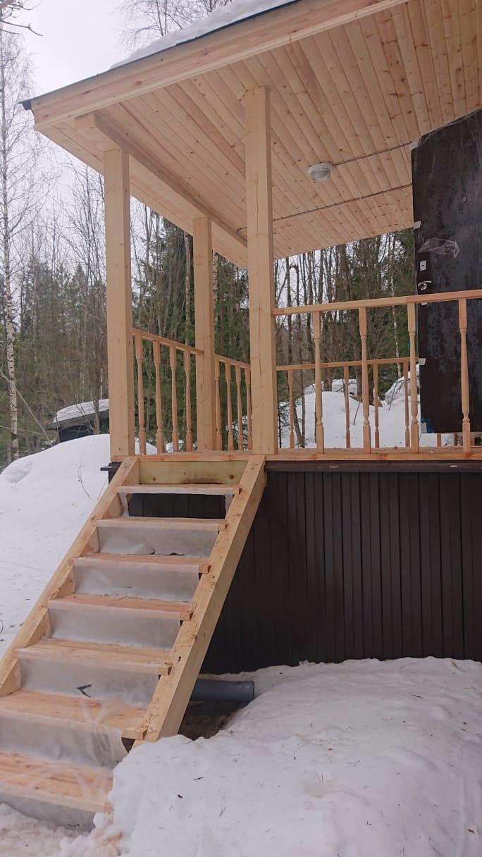 Строительство дома из клееного бруса. Альпийские луга
