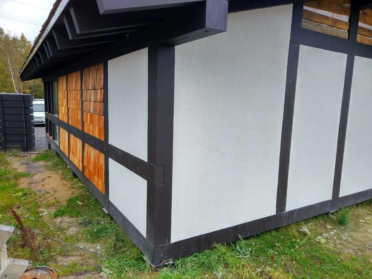 Дом из клееного бруса Фахверк Мини